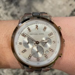 Michael Kors Clear strap rose gold Watch